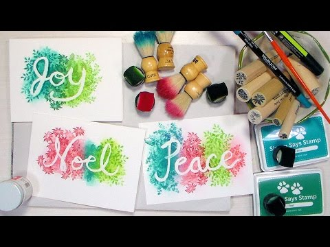 Lettering with Masking Fluid & Over-stamping // Quick Cards!