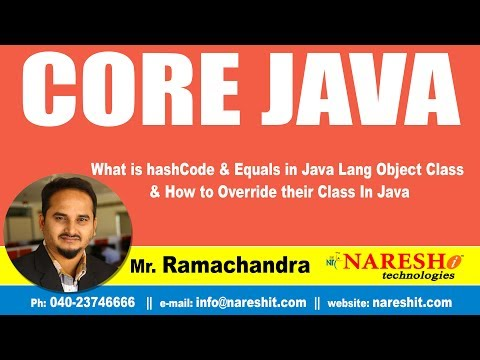 What is hashCode & Equals in Java Lang Object Class & How to Override their Class In Java |Core Java