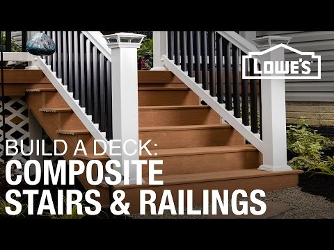 How To Build a Deck | Composite Stairs & Railings (4 of 5)