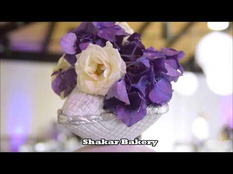 Seven Tier Pillow Purple Ombre Wedding Cake by Shakar Bakery