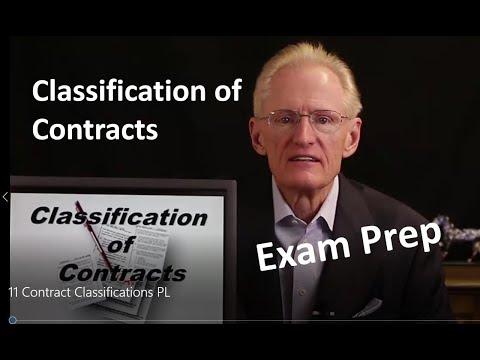 11 Contract Classifications-Arizona Real Estate License Exam Prep