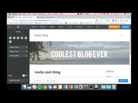 Weebly Tutorial - Fonts and Theme