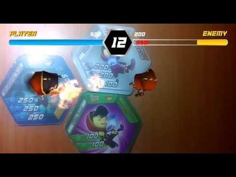 Boboiboy AR Choki choki - Boboiboy Blaze vs Boboibot Fire