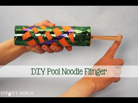 How to Make a Pool Noodle Rocket Flinger | Sophie's World