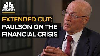 Former Treasury Sec. Paulson On The 2008 Crisis
