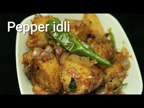 Pepper idli - Idli recipe - Pepper Idli recipe - Leftover idli recipe