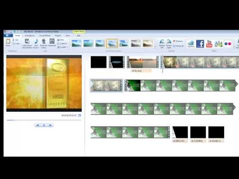 How to put clips together in Windows Movie Maker.