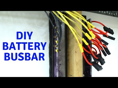 Making Busbars, wiring batteries together, DIY Powerwall (Chevy Volt)