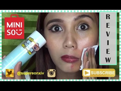 MINISO Eye and Lip Makeup Remover Review (Tagalog) | SuperEon xiv