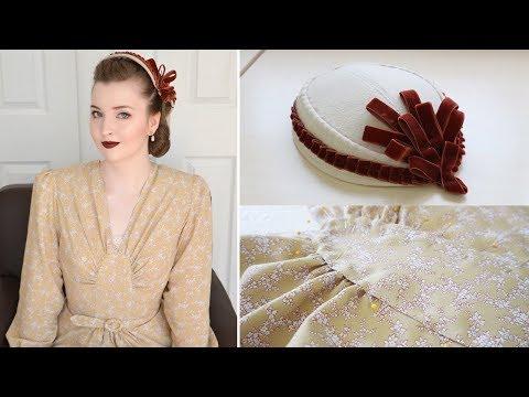 1940's Floral Dress! - Weekend Sewing Vlog