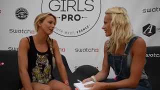 Interview De Maud Le Car, Surfeuse Au Swatch Girls Pro  © Www.startinggirl.com