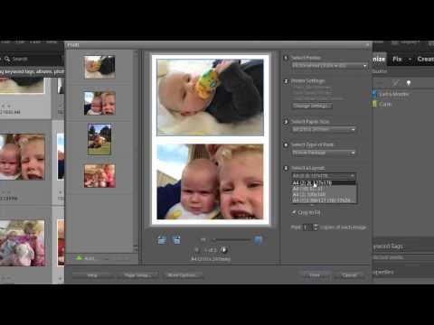 Print multiple photos on one sheet in Photoshop Elements