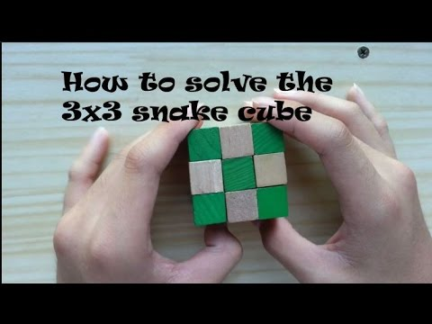 Easiest way on how to solve the 3x3 snake cube
