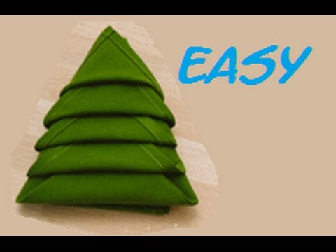 How To Fold A Napkin Christmas Tree Easy. (Full HD)