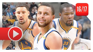 Stephen Curry, Kevin Durant & Klay Thompson Full Highlights vs Grizzlies (2017.02.10) - TOO GOOD!