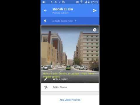 Adding photos through Google photos to Google maps