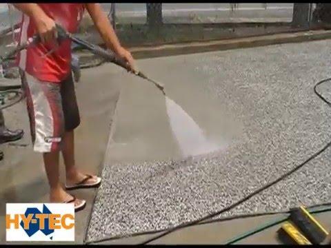 Hy-Tec Exposed Concrete using Rugasol