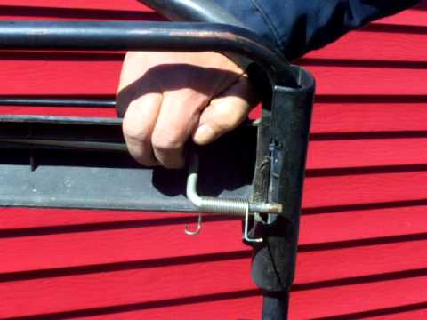 Replace the torsion spring on the Toro Personal Pace mower in under two minutes