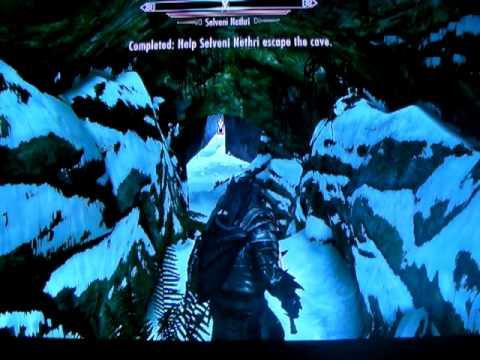 Elder Scrolls Skyrim:   Help Selveni Nethri Escape the Cave