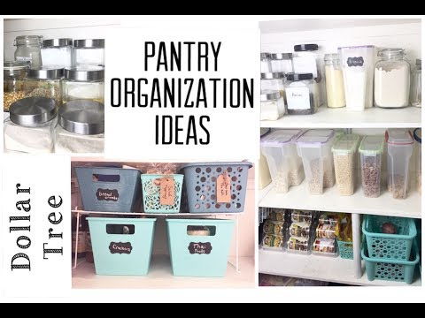 Dollar Tree Pantry Organization Ideas    Organize With Me   momma from scratch