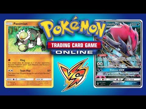 Passimian / Mew vs Zoroark GX / Lycanroc GX - Pokemon TCG Online Gameplay