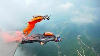 Chinese wingsuiter bags world record after hitting moving target