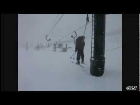 Watch Skiing Tow Rope Super Wedgie HILARIOUS!
