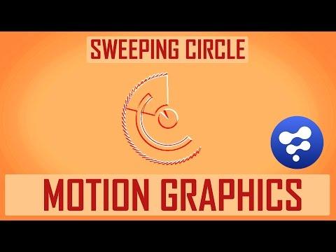 Blackmagic Fusion 8 Tutorial  - Motion graphics #1 - Sweeping Circle Animation