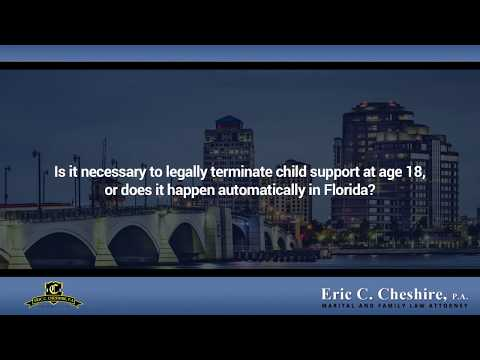 Child Support When A Child Turns 18 In Florida