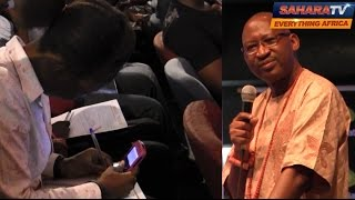 Patrick Obahiagbon At UNILAG - Students Attend With Mobile Dictionaries, Pens And Papers