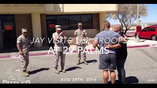 Jay Cutler Visits Marines At 29 Palms - Cutler Nutrition
