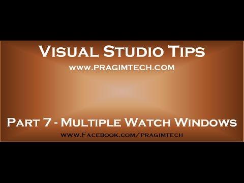 Part 7   Advanced debugging using watch window