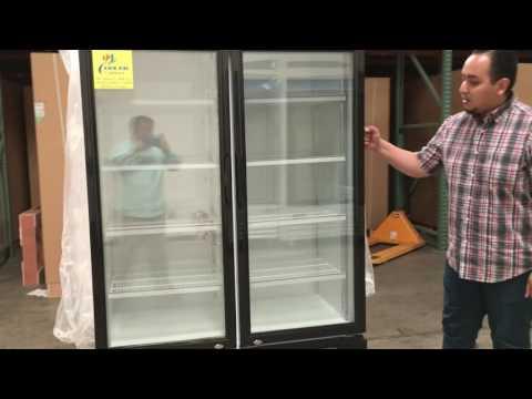 NSF MERCHANDISER NEW refrigerator Glass door beer flower cooler two door