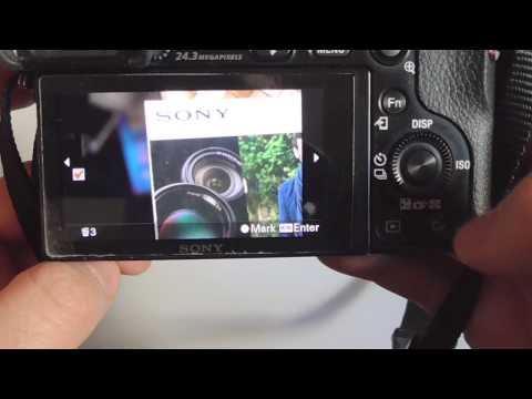 Sony A6000: How to delete Multiple/All photos from Memory Card