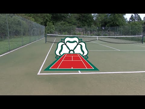 Laying an Artificial Grass Tennis Court Carpet