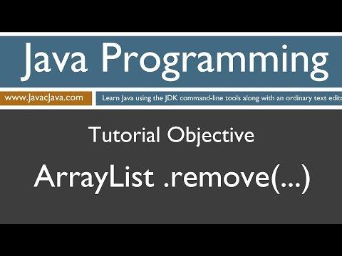 Learn Java Programming - ArrayList remove Method Tutorial