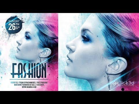 Fashion Flyer Design   Fashion Poster Design   Photoshop Tutorial   click3d