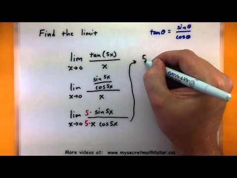 Calculus - How to find trigonometric limits using sin(x)/x