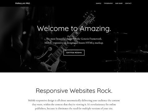 Parallax Pro Front Page As Page Template