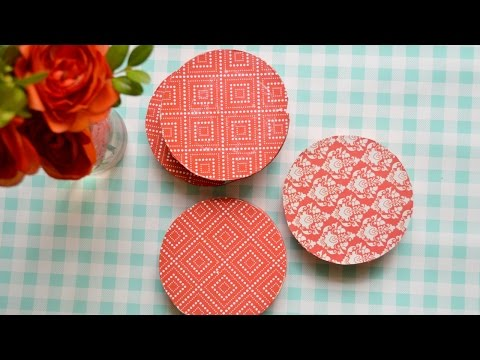 Make Colorful Wood and Paper Coasters - DIY Home - Guidecentral