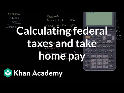 Calculating federal taxes and take home pay | Taxes | Finance & Capital Markets | Khan Academy