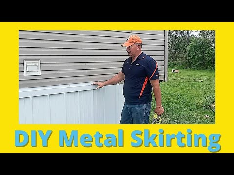 Mobile Home Metal Skirting Install