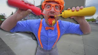 Download Car Wash with Blippi | Washing the Big Red Truck Video