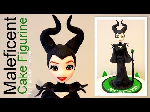 Halloween Maleficent Cake Figurine How to by Pink Cake Princess