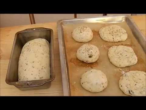 Bread and Panini, Buns  with seeds and herbs