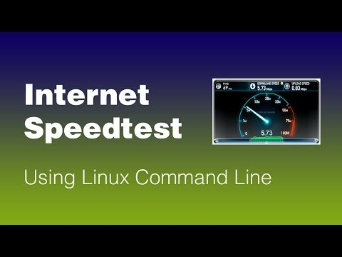 Internet Speedtest Using Linux Command Line