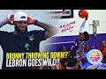 BRONNY James 1st In Game DUNK Gets LeBron OUT OF HIS SEAT Going Wild Crowd GOES CRAZY