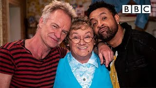 Sting and Shaggy perform their new song