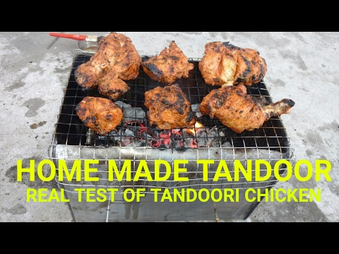 tandoori chicken / real smoke taste of tandoori chicken using home made barbecue/test-t food