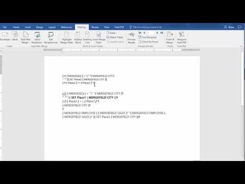 Mail Merge with Grouping in MS Word by Chris Menard